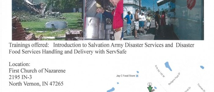 Salvation Army Intro training events